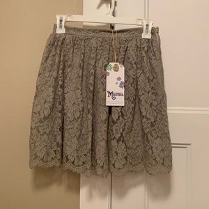 Show Me Your Mumu NWT Lace Skirt